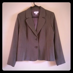 Gray Womens Blazer By Sag Harbor Size 12P